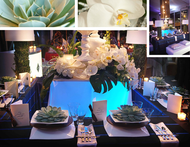 Urban Contemporary Floral Tablescape