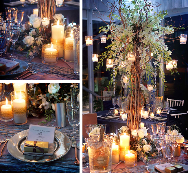 Golden Once A Curly Willow Centerpiece Is The Focal Point Of