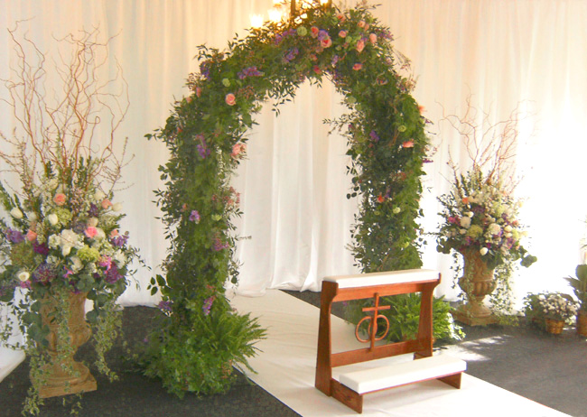 Garden Arch and Urns
