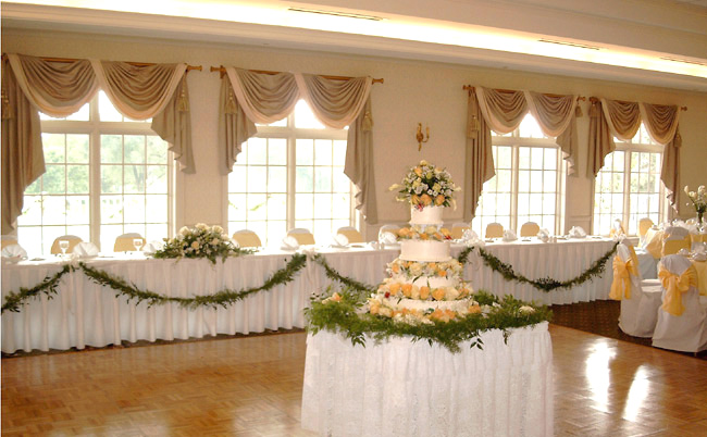 Wedding Reception Flowers Need linens chair covers plants pedestals