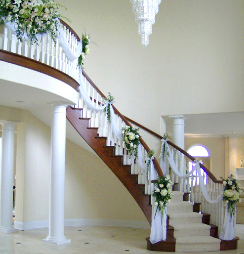 Stairway with Fresh Flower Accents