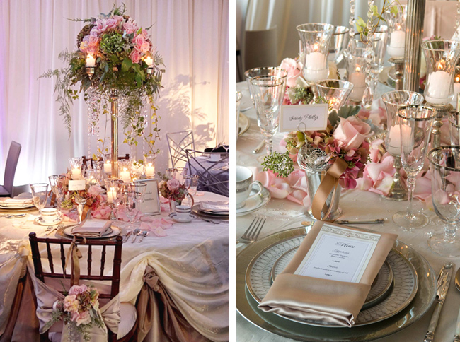 Soft Pink Wedding and Party Flowers