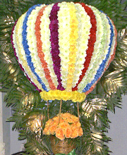 Rising Balloon of Flowers