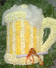 Beer Mug of Flowers