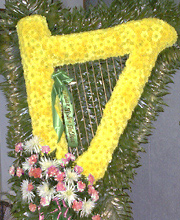 Harp Funeral Flowers Tribute