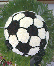 Soccer Ball in Flowers