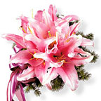 Pink Lily Bridal Bouquet Wedding Flowers
