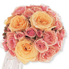 Pink & Blush Roses Bouquet Wedding Flowers