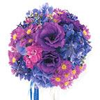 Round Blue & Lavender Nosegay