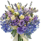 Lavender and Blue Floral Bouquet Wedding Flowers