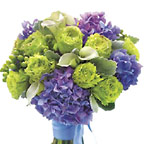Contemporary Lavender and Green Nosegay Wedding Flowers