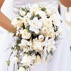 White Roses & Orchids Bouquet Wedding Flowers
