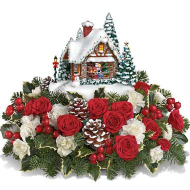 Teleflora Christmas 2019.Teleflora Thomas Kinkade A Kiss For Santa 4x200 Florist