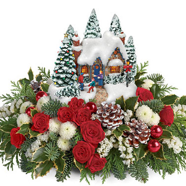 Teleflora Christmas 2019.Teleflora Thomas Kinkade Country Christmas 5x200 Florist