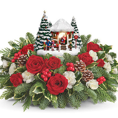Teleflora Christmas 2019.Teleflora Thomas Kinkade S Jolly Santa 6x200 Florist