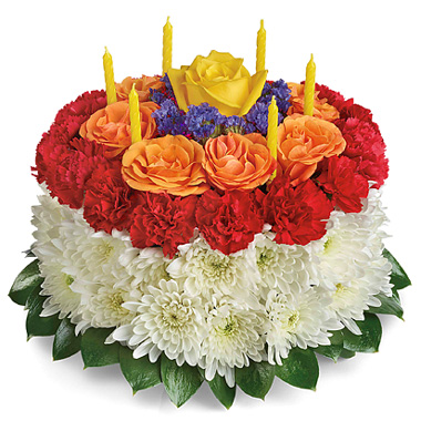 Your Wish Granted Birthday Cake Bouquet BC061