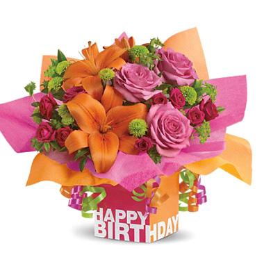 Teleflora Rosy Birthday Present T0201