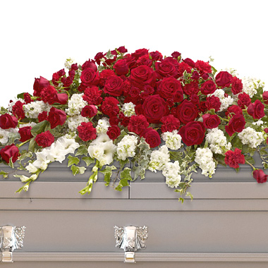 Garden of Grandeur Casket Spray T2263 Florist Delivery in